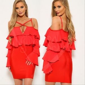 LADIE'S FASHION HOT AND SEXY Red Bodycon Dress